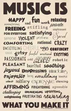 """This great 11"""" x 17"""" poster pinpoints all the emotions we have felt at one point or another when performing music. The poster is professionally printed on high-"""