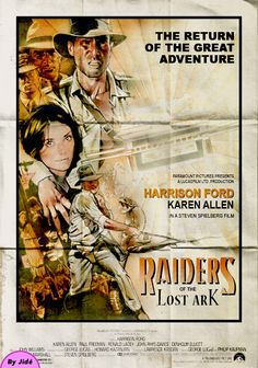 Indiana Jones Raiders Of The Lost Ark movie poster art by Jide