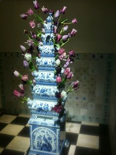 Tulpenvaas Frans Hals museum #tulips #Vase #Delftblue
