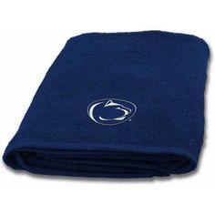 Ncaa Applique Bath Towel, Penn State, Blue