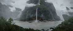 waterfalls by Joey Desrosiers | Matte Painting | 2D | CGSociety