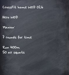CrossFit Home WOD  Hero WOD