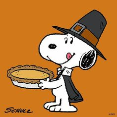 Snoopy & pumpkin pie