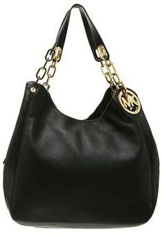 Sac Michael Kors, Michael Kors Fulton, Leather Handbags, Leather Bag, Black Noir, Arm Party, Michael Kors Collection, Large Handbags, Beautiful Bags