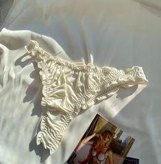 Ruffle edge silk satin thong panties / custom made lingerie /   Etsy Jolie Lingerie, Best Lingerie, Pretty Lingerie, Beautiful Lingerie, Lingerie Set, Satin Underwear, Ropa Interior Babydoll, Stil Inspiration, Silk Satin