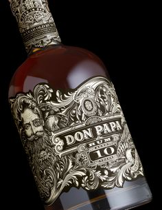 Don Papa is a premium small batch rum from the isle of Negros Occidental the Philippines.Stranger & Strangerrecently designed the packaging for Don Papa's 10 year edition which features the brand's namesake among local flora and fauna as it undulates ar Beverage Packaging, Bottle Packaging, Brand Packaging, Design Packaging, Packaging Ideas, Rum, Rhum Diplomatico, Label Design, Graphic Design