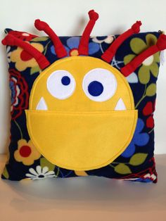 Monster Pillow for Kids Room www.laceykayecreations.blogspot.com
