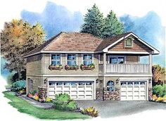 Traditional Garage Plan 58569
