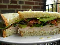Cafe 11 Club Sandwich: Turkey, Avacado, Bacon, Lettuce with Cream Cheese & Ranch