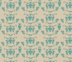 Summer Storm Beach Damask fabric by emmalinefabrics on Spoonflower - custom fabric