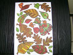 herfstbladeren zelf gekleurd