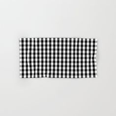 Classic Black & White Gingham Check Pattern Hand & Bath Towel by PodArtist - Hand Towel Strapless Tops, Gingham Check, Hand Towels, White Cotton, Just For You, This Or That Questions, Black And White, Bathroom, Blanco Y Negro