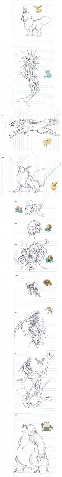 150 Pokemon sketches