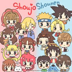 """Japanese anime and manga can be categorized using different ways, and one of those is through demographic groups or target audience. Two of the most common types of anime/manga demographic subgroups are """"shoujo"""" and """"shounen""""! ( ´ ▽ ` )ノ  ♥ www.japanlover.me ♥"""