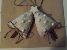 Burlap Christmas ornament