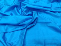 Spanish Blue Mulberry Silk Fabric/100% Pure Silk Fabric, plain silk fabric made with handloom, Fabric by the yard. by TheSLVSilks on Etsy Dupioni Silk Fabric, Raw Silk Fabric, Blue Fabric, How To Dye Fabric, Cool Fabric, Scarf Curtains, Natural Protein, Silk Bedding, Mulberry Silk
