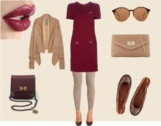 """""""Burgundy Autumn Outfit"""" by papaya86 on Polyvore"""