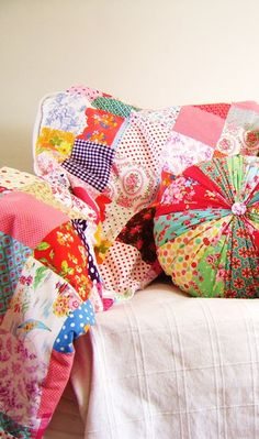 quilt and pillow.