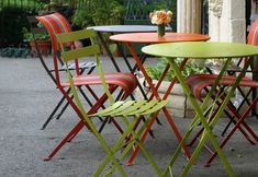 Stop by the garden at Emily Joubert to see the largest  selection of Fermob in Northern California, we ship find us at www.emilyjoubert.com bistro chair $108.00