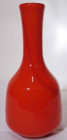 murano glass red bottle