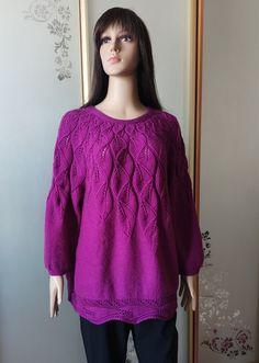 Фиалковый листопад Tunic Tops, Pullover, Blouse, Long Sleeve, Sleeves, Sweaters, Women, Fashion, Tricot