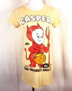 497943173508c8 euc throwback Local Celebrity ladies Casper The Friendly Ghost T-Shirt  devil M  LocalCelebrity