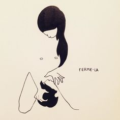 """Shut up"" #drawing #draw #dessin #doodle #sketch #sketching #illustration #graphic #eroticdrawing #eroticart #luxure #érotisme #érotique #ink #love #hot #minimal #line #artwork #art #petitesluxures by petitesluxures"