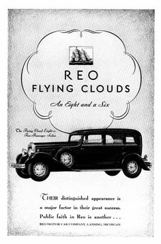 Reo Motor Car Compant - as there ever a cooler name for a car?