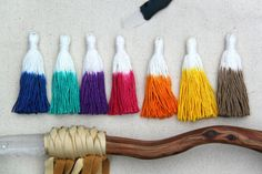 Cotton Tassels: Dip Dye Ombre Fringe Pendant, Tie Dyed Boho DIY Craft + Jewelry Making Supplies, Pieces, Choose From 12 Colors Diy Crafts Jewelry, Diy And Crafts, Arts And Crafts, Paper Crafts, Do It Yourself Jewelry, Jewelry Making Supplies, Craft Supplies, Boho Diy, Making Ideas