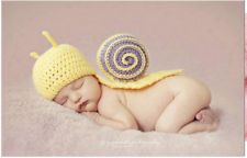 Cute Baby Infant Snail Costume Photo Photography Prop 0-6 months Newborn Yellow