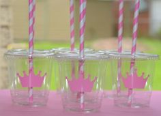 Princess Birthday Party CupsSet of 12 by SignatureAvenue on Etsy, $16.40