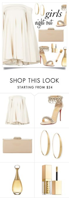 """""""Louboutin"""" by tina-pieterse ❤ liked on Polyvore featuring Brandon Maxwell, Christian Louboutin, Dune, Lana, Christian Dior, Stila and Yves Saint Laurent"""