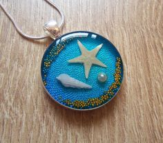Hey, I found this really awesome Etsy listing at https://www.etsy.com/listing/210955914/seashell-necklace-starfish-pendant-pearl