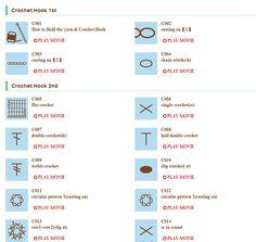 Japanese Crochet symbols and videos! Crochet Instructions, Crochet Diagram, Crochet Chart, Crochet Stitches, Crochet Hooks, Crochet Patterns, Russian Crochet, Japanese Crochet, Irish Crochet