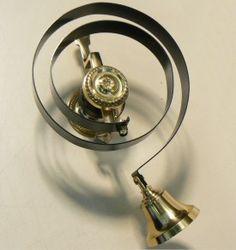 & Vintage brass door bell cover ringer turn plate set pezcame.com