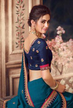 Saree Blouse Patterns, Saree Blouse Designs, Bollywood Saree, Bollywood Actress, Beautiful Women Over 40, Beautiful Blonde Girl, Embroidery Saree, Indian Suits, Beautiful Saree