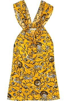 Étoile Isabel Marant - Acan Printed Cotton Top - Yellow - StylishOffer Cotton Slip, Printed Cotton, Army Green Pants, Textiles, Women's Summer Fashion, Summer Fashions, Autumn Fashion, Floral Tops, Floral Motif