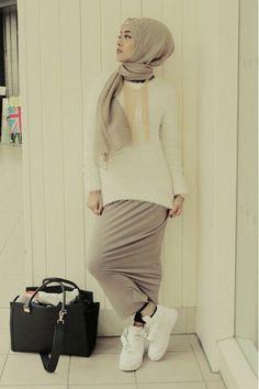 Pinned via Nuriyah O. Martinez | Casual Hijab Style