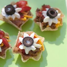 Taco Cups (pictured) and other really good recipes for coed baby shower. Hearty food for the guys.