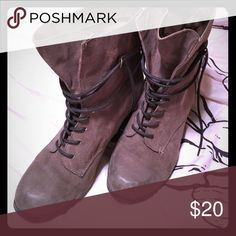 Lace up boots Light brown lace up boots with a 2 inch heel. Daytrip Shoes Heeled Boots
