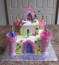 disney+princess+cakes | Disney Princess Castle Cake kit made by Bear Heart Baking Company York ...