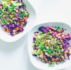 Græskar quinoa bowl