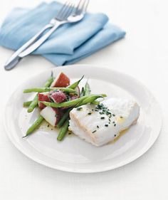 Poached Halibut With Green Beans and Red Potatoes | Need some quick dinner ideas? Try one of these speedy recipes that take just 15 minutes or less of hands-on work.