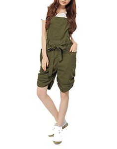 Meilaier Womens Casual Harem Shortalls Cute Overalls Shorts Beige,army green (L, Army green) Meilaier http://www.amazon.com/dp/B00LQESWWM/ref=cm_sw_r_pi_dp_837uvb1026VNN