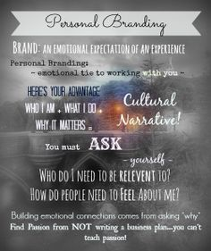 "Personal Branding - Ask yourself ""why"" #personalbranding"