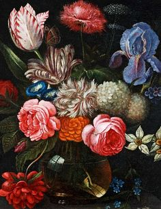 Nicolaes van Veerendael, Still Life with Flowers, detail 17th century
