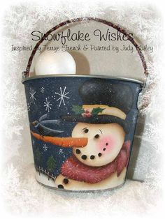 Snowflake Wishes - Painted By Judy Bailey, Painting With Friends E Pattern