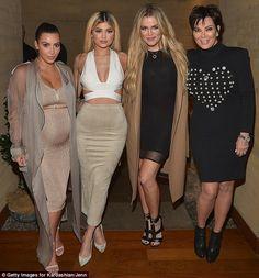 A family affair: (L-R) Kim Kardashian, Kylie Jenner, Khloe Kardashian and Kris Jenner host...