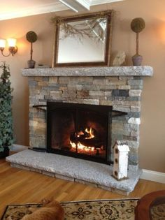 Warm And Cozy Stone Fireplace Surrounds