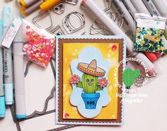 Cactus Card with Prickly Stamp Set from Craftin Desert Divas
